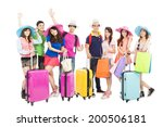 group of friends or classmates... | Shutterstock . vector #200506181