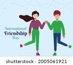 happy friendship day background ...   Shutterstock .eps vector #2005061921