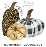 Leopard And Chechered Pumpkin...