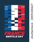 bastille day in france.... | Shutterstock .eps vector #2005100627