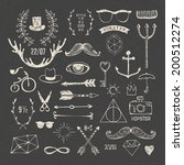 hipster style elements and...   Shutterstock .eps vector #200512274
