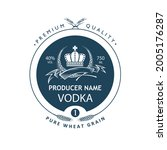 template vodka label with royal ... | Shutterstock .eps vector #2005176287
