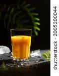 glass of orange citrus cooling...   Shutterstock . vector #2005200044