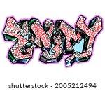 graffiti style multicolored...   Shutterstock .eps vector #2005212494