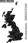 low poly united kingdom map.... | Shutterstock .eps vector #2005215104