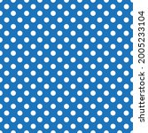 White And Blue Polka Dot...