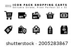 icon set of shopping carts...