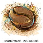 vector coffee bean | Shutterstock .eps vector #200530301