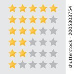 five stars icon isolated on...   Shutterstock .eps vector #2005303754