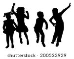 black silhouette against a... | Shutterstock .eps vector #200532929