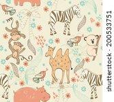 babies hand draw seamless... | Shutterstock .eps vector #200533751