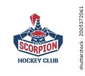 scorpion hockey club logo. a... | Shutterstock .eps vector #2005372061