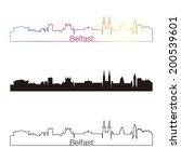 belfast skyline linear style... | Shutterstock . vector #200539601