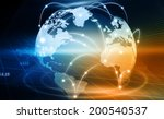 futuristic background of global ... | Shutterstock . vector #200540537