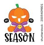 pumpkin character cartoon ... | Shutterstock .eps vector #2005409801