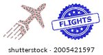 flights textured stamp seal and ...   Shutterstock .eps vector #2005421597