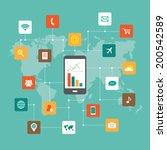 network illustration | Shutterstock .eps vector #200542589