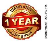 1 year warranty golden label... | Shutterstock .eps vector #200542745