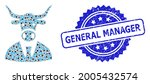 general manager unclean stamp... | Shutterstock .eps vector #2005432574