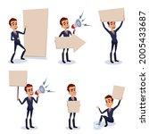 funny cartoon set of...   Shutterstock .eps vector #2005433687