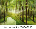 evening forest | Shutterstock .eps vector #200545295