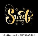 sweet dreams vector...   Shutterstock .eps vector #2005461341