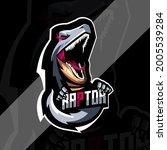 Raptor mascot logo esport design template