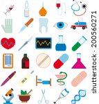 set of images on medical... | Shutterstock .eps vector #200560271