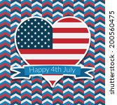 red white and blue usa fourth... | Shutterstock .eps vector #200560475