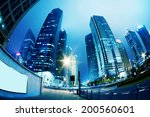 high rises in shanghai's new... | Shutterstock . vector #200560601