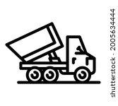 commercial tipper icon. outline ... | Shutterstock .eps vector #2005634444