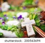 grave jewelry  unforgotten  | Shutterstock . vector #200563694