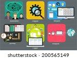 set of flat design elements for ...   Shutterstock .eps vector #200565149