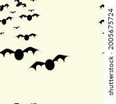 halloween bats pattern cute...   Shutterstock .eps vector #2005675724