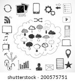 sketches of cloud computing... | Shutterstock .eps vector #200575751
