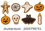 cartoon halloween spooky... | Shutterstock .eps vector #2005798751
