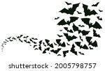 flying halloween bats...   Shutterstock .eps vector #2005798757