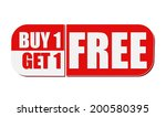 buy one get one free   text in... | Shutterstock . vector #200580395