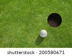 Golf Ball Very Close To The Hole