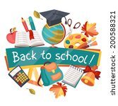 back to school background with... | Shutterstock .eps vector #200588321