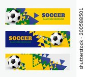 set of football soccer headers | Shutterstock .eps vector #200588501