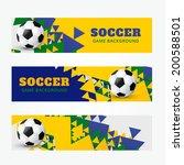 set of football soccer headers | Shutterstock .eps vector #200588501
