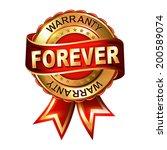 forever  warranty golden label... | Shutterstock .eps vector #200589074