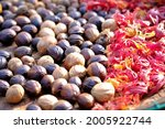 Nutmeg Seeds That Are In The...