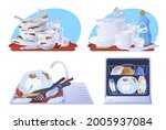 collection dirty and clean...   Shutterstock .eps vector #2005937084