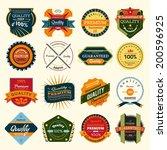badges vector set | Shutterstock .eps vector #200596925