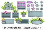 stone ui game buttons vector...