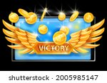 game victory vector concept ...