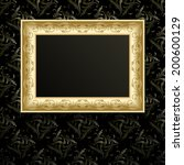 picture frame on wall  vintage... | Shutterstock . vector #200600129
