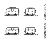 camper car icon with thin line...   Shutterstock .eps vector #2006019377
